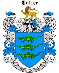 COTTER family crest
