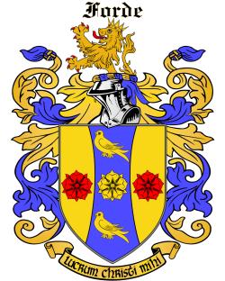 FORDE family crest